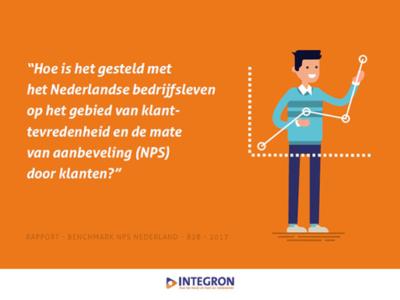 Net Promotor Score (NPS) in Nederland binnen B2B 10% in 2017